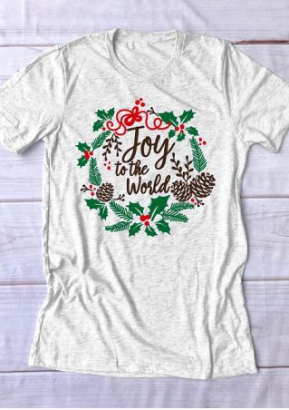 Christmas Joy To The World O-Neck T-Shirt