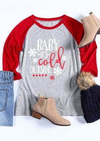 Christmas Baby It's Cold Outside Baseball T-Shirt