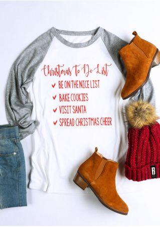 Christmas To Do List Baseball T-Shirt