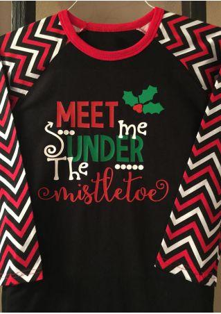 Christmas Meet Me Under The Mistletoe Baseball T-Shirt