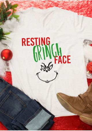 Christmas Resting Grinch Face T-Shirt