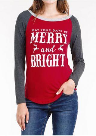 Christmas Merry And Bright O-Neck Baseball T-Shirt