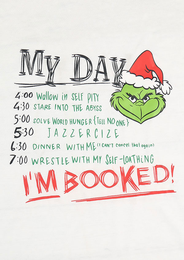 Christmas Grinch I M Booked Baseball T Shirt Fairyseason