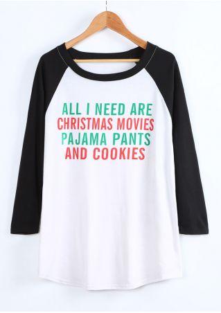 Plus Size All I Need Are Christmas Movies Baseball T-Shirt