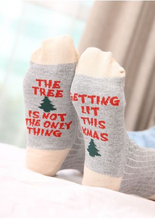 Christmas The Tree Is Not The Only Thing Socks