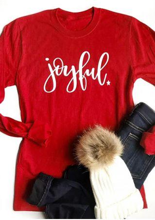 Joyful Star O-Neck Long Sleeve T-Shirt