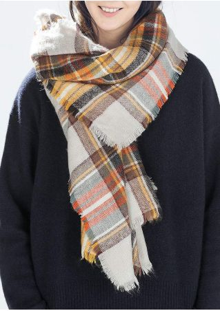 Plaid Square Fashion Scarf