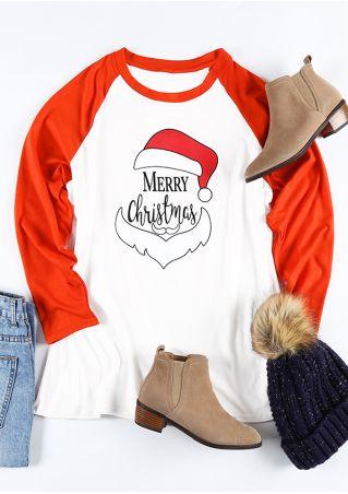 Plus Size Merry Christmas Santa Hat Baseball T-Shirt