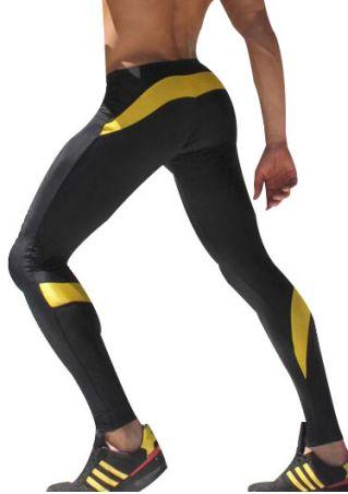 Color Block Skinny Casual Sport Pants