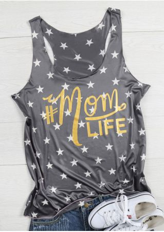 Mom Life Star O-Neck Tank