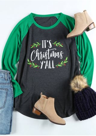 Plus Size It's Christmas Y'all Baseball T-Shirt