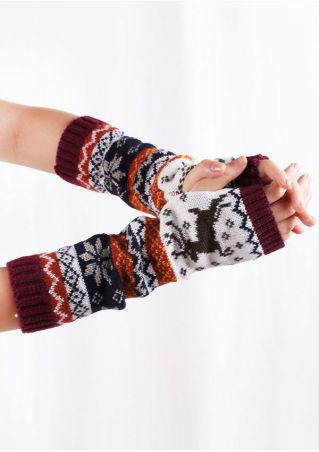 Christmas Reindeer Fingerless Gloves