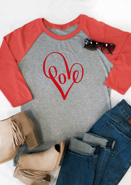 Heart Love Baseball T Shirt Fairyseason