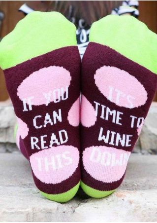 It's Time To Wine Down Socks
