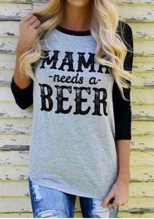 Mama Needs A Beer Baseball T-Shirt