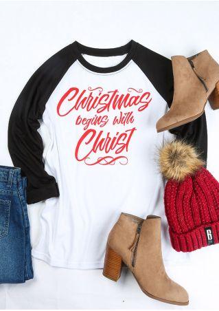 Christmas Begins With Christ Baseball T-Shirt