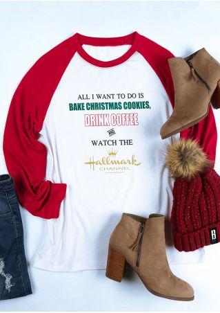 Christmas All I Want To Do Baseball T-Shirt
