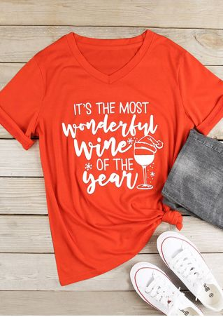 Christmas It's The Most Wonderful Wine Of the Year T-Shirt