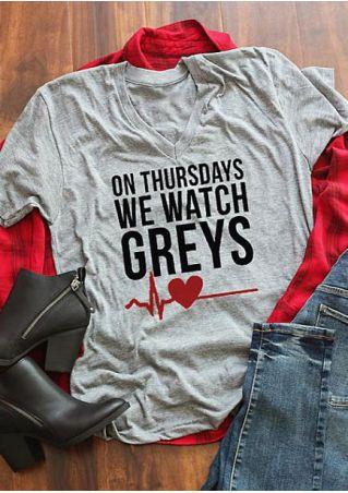 On Thursdays We Watch Greys T-Shirt
