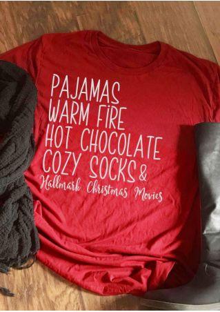 Christmas Pajamas Warm Fire T-Shirt