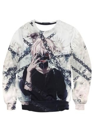 Tokyo Ghoul Character Printed Sweatshirt