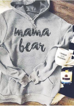 Mama Bear Drawstring Pocket Hoodie