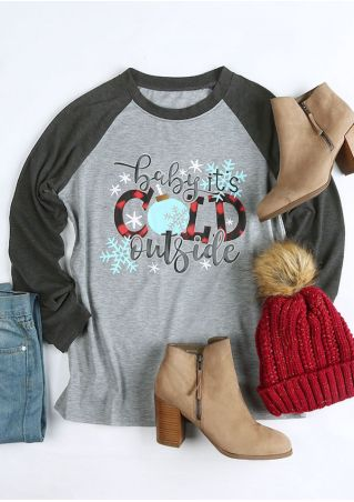 Christams Baby It's Cold Outside Baseball T-Shirt