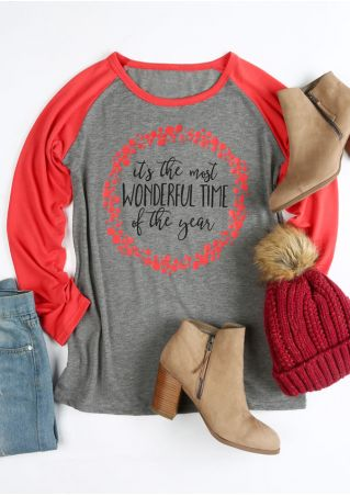 Christmas The Most Wonderful Time Baseball T-Shirt