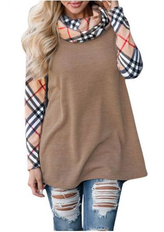 Plaid Long Sleeve Blouse