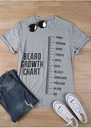 Beard Growth Chart O-Neck T-Shirt