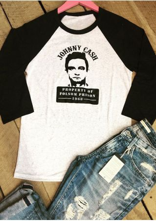 Johnny Cash O-Neck Baseball T-Shirt