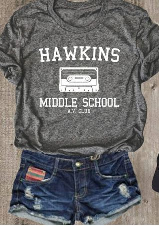 Hawkins Middle School O-Neck T-Shirt