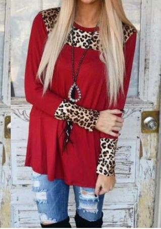 Leopard Printed Blouse without Necklace