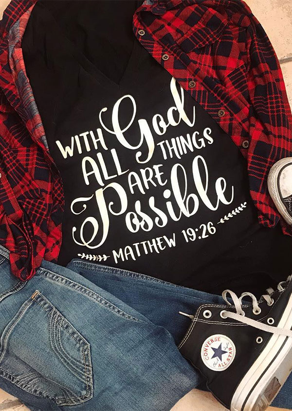 With God All Things Are Possible T-Shirt 41675