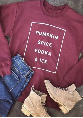 Halloween Pumpkin Spice Vodka & Ice Sweatshirt