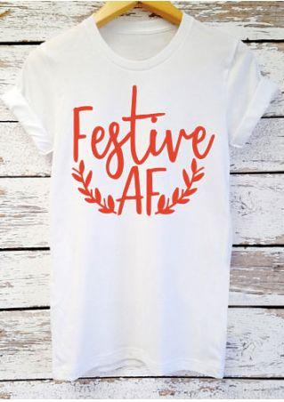 Festive Af  Short Sleeve Shirt