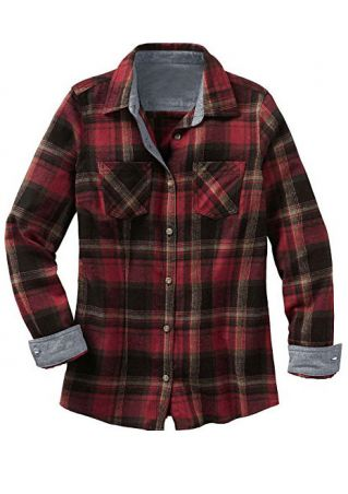 Plaid Pocket Long Sleeve Shirt