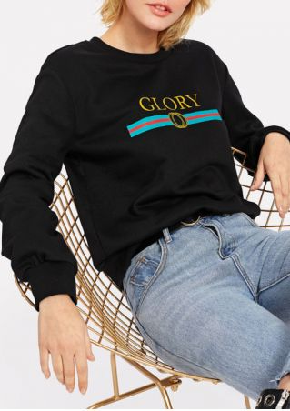 Glory O-Neck Long Sleeve Sweatshirt