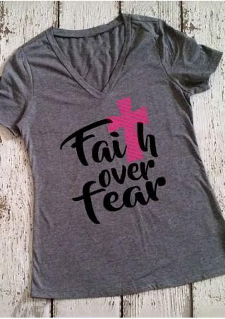 Faith Over Fear V-Neck T-Shirt