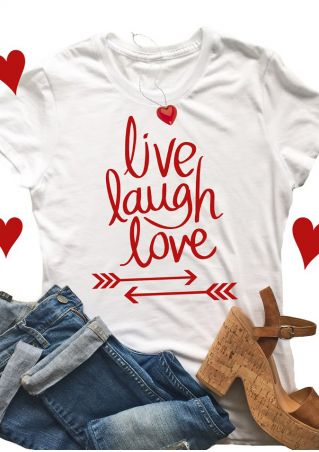 Live Laugh Love Arrow T-Shirt