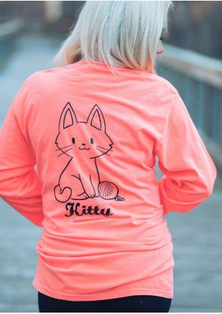 Kitty Pocket Long Sleeve T-Shirt