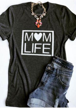 Mom Life Short Sleeve T-Shirt