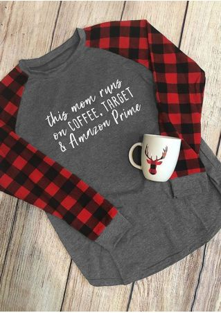 This Mom Runs On Coffee Baseball T-Shirt