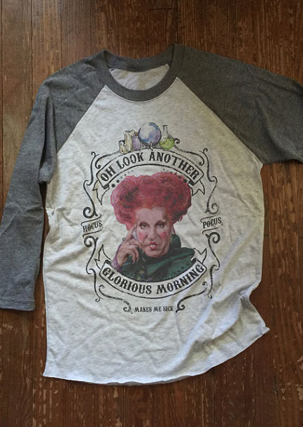 Halloween Hocus Pocus Makes Me Sick Baseball T-Shirt