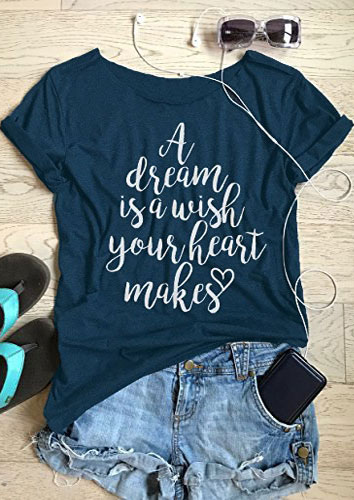 A Dream Is A Wish Your Heart Makes T-Shirt - Fairyseason A Dream Is A Wish Your Heart Makes Shirt