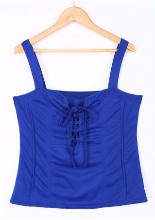 Solid Lace Up Camisole
