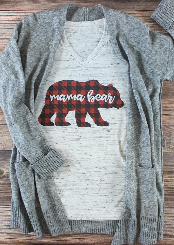 1f59d2748 Mama Bear V-Neck T-Shirt - Fairyseason
