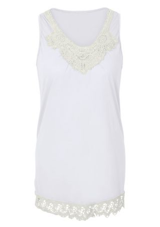Lace Floral Splicing Tank