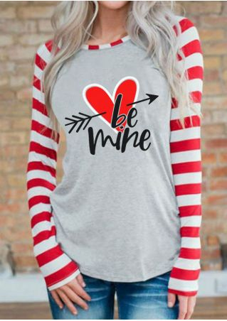 Be Mine Heart Arrow Baseball T-Shirt