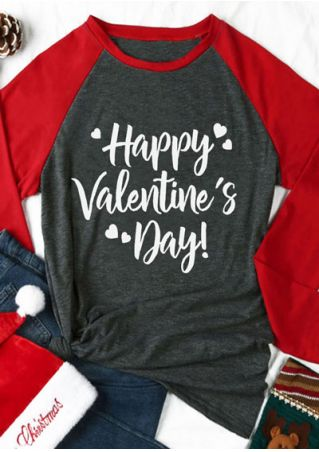 Happy Valentine's Day Heart Baseball T-Shirt